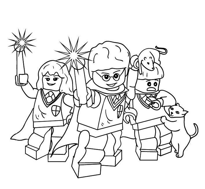Lego Harry Potter Magic Wand Coloring Pages Harry Potter