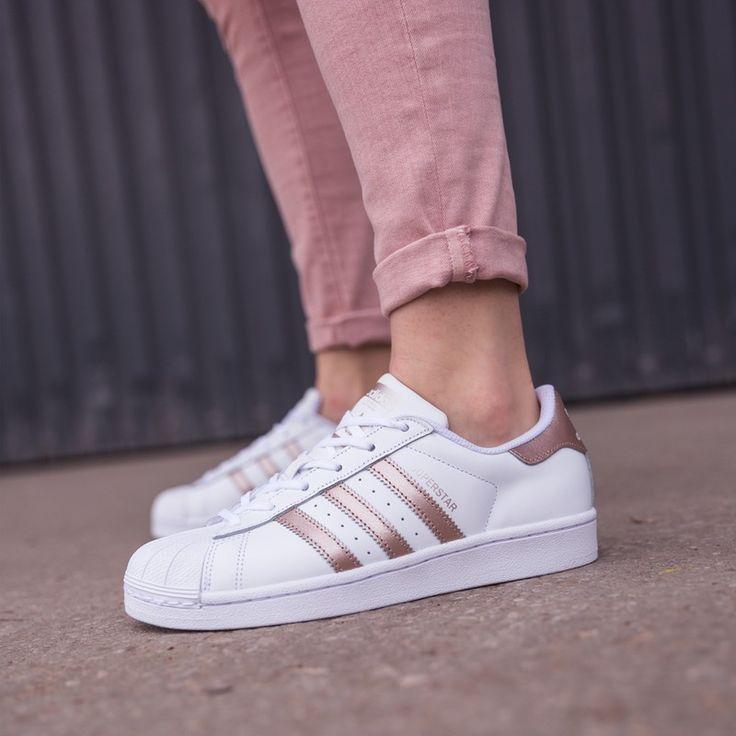 adidas superstar blanche et rose clair