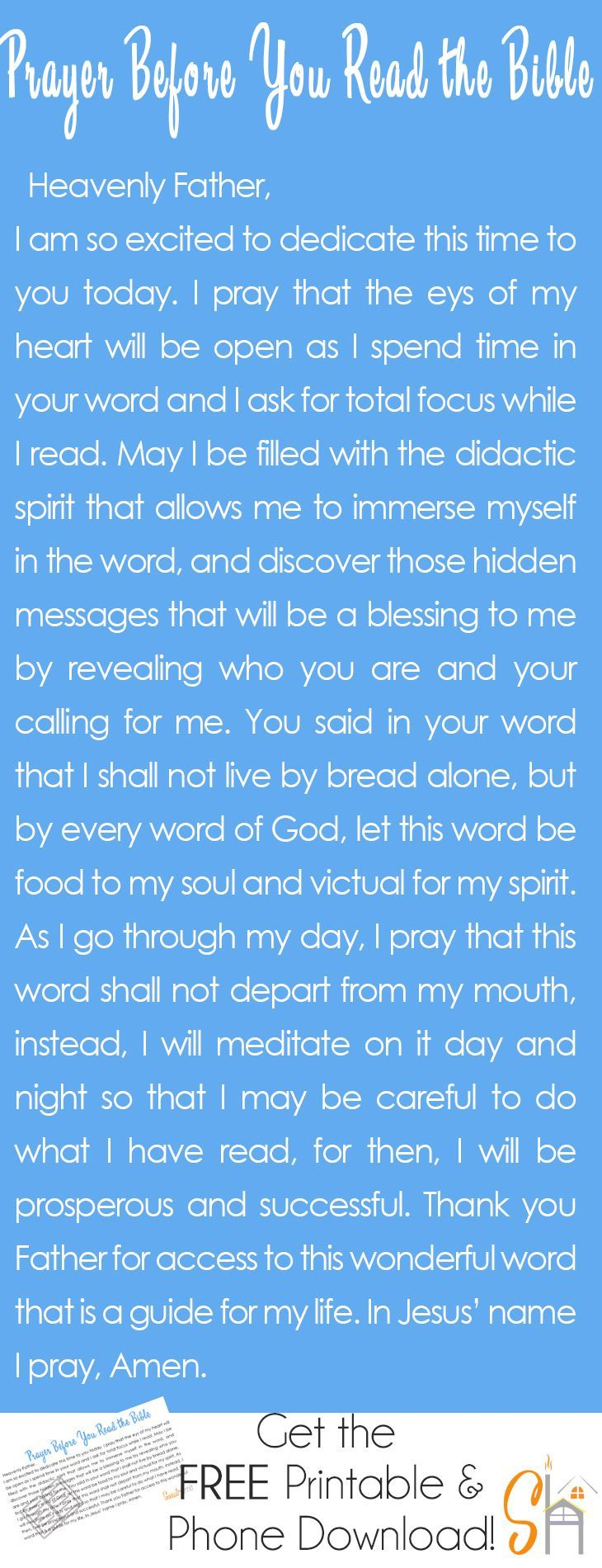 A prayer before you read the bible   socialhermit.me. It's important to invite the Holy Spirit into your quiet time with the Lord and have HIm direct your study time.