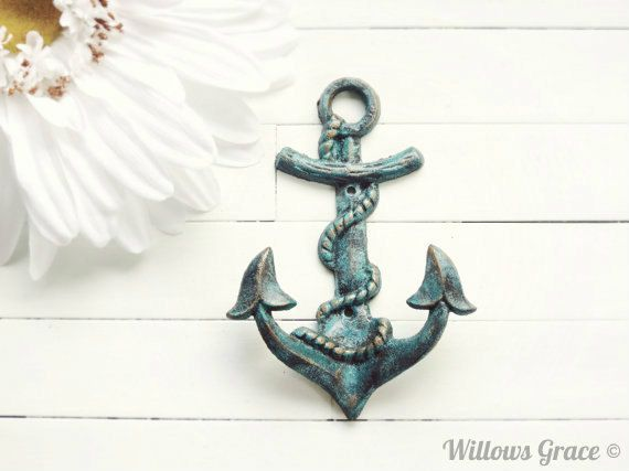 Metal Wall Hook / Beach Decor / Pool Decor / by WillowsGrace, $15.00