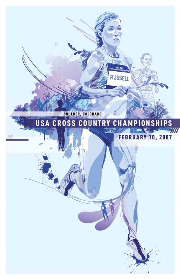 2007 US Cross Country Championships Posters by Laura Kottlowski, via Behance