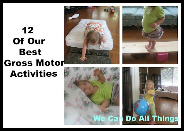 Gross motor skills DIY activities