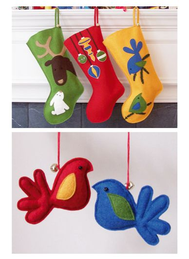 felt christmas stocking patterns | blomma finds: SATURDAY - HOLIDAY - MYPERENNIAL