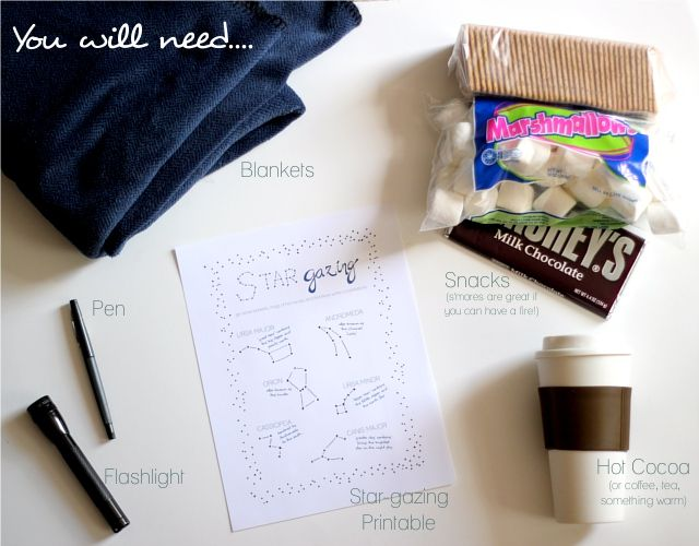 Fun stuff you need for a night of stargazing, from TheFlourishingAbode