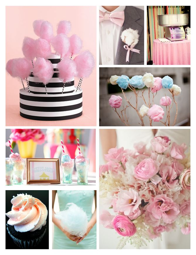 Sweet Inspiration - cotton candy wedding