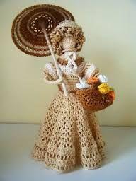 Znalezione obrazy dla zapytania szydełkowe lalki
