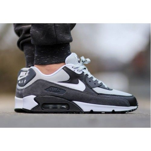 Nike Air Max 90 Essential Grey Mist White Black Dark Grey Mens Trainers & Shoes Sale UK