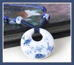 Gongfu Tea Jingdezhen Handmade Classical Ceramics Necklaces
