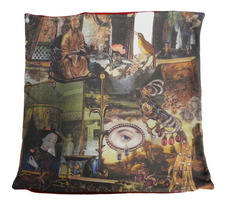 The cushion is hand made in Spain and shows part of the famous story The Nightingale by Hans Christian Andersen... shop at hcandersenonlineshop.com #hcandersen #cushion #pillow #decor #digitalprint #cushionsale #shop #handmade #buy #art #fairytale #homedesign #print #interiordesign #luxury #story #forbed