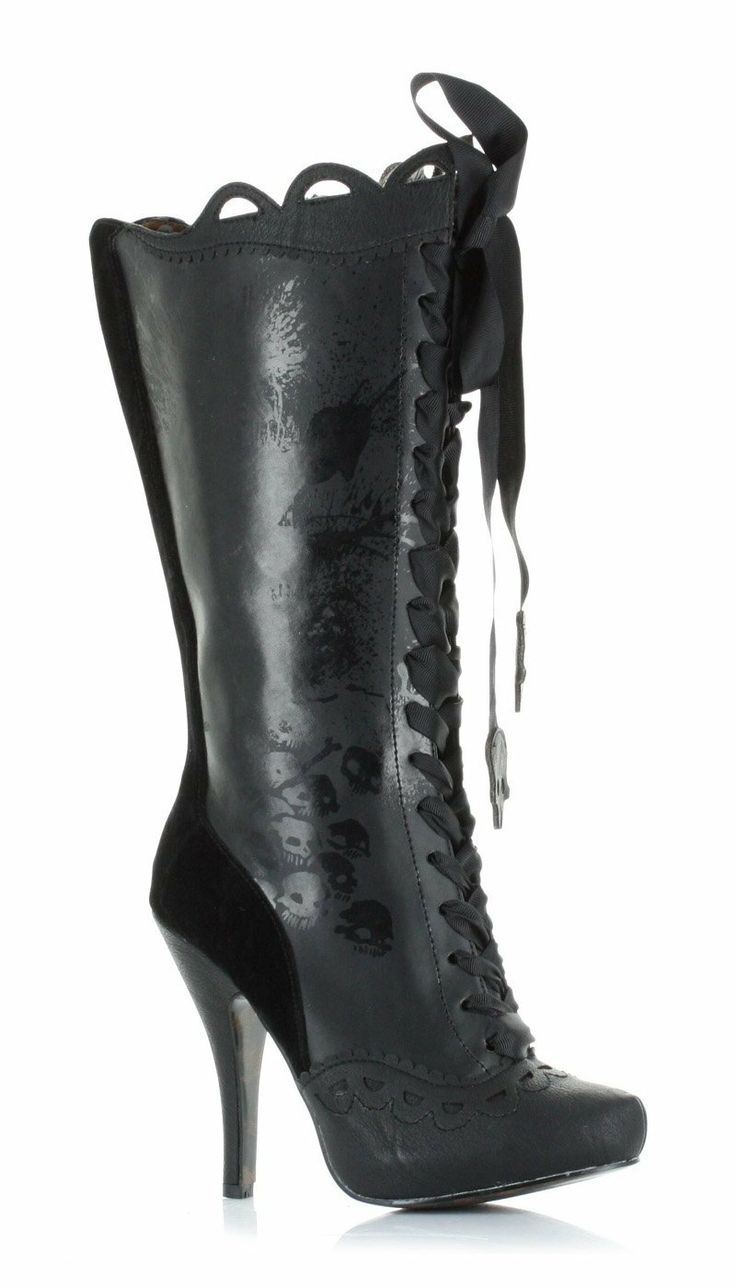 "Amazon.com: Bettie Page BP423-MORBIDIA 4"" Knee Boot With Gris Grimly Applique: Shoes"