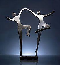 "Joyous Dancers by Boris Kramer (Metal Sculpture) (16"" x 8"")  $280- $570"