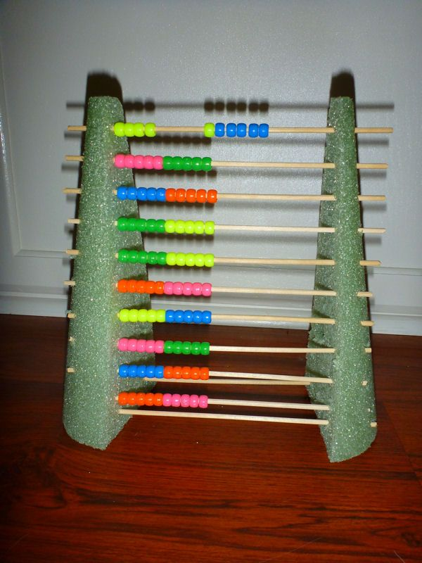 Abacus Diy Floral Foam Cone Cut In Half Scewers Beads