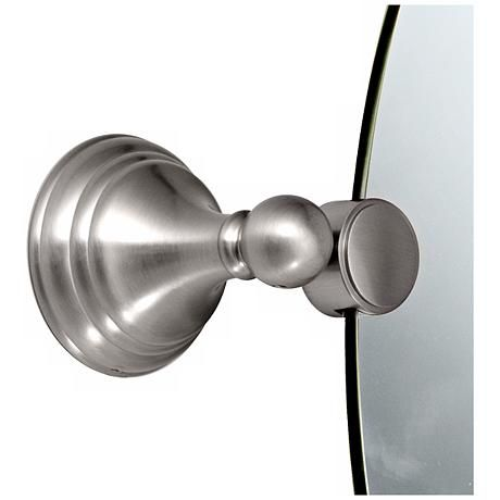 Gatco Charlotte Satin Nickel Finish Oval Tilt Wall Mirror - #P5319 | Lamps Plus