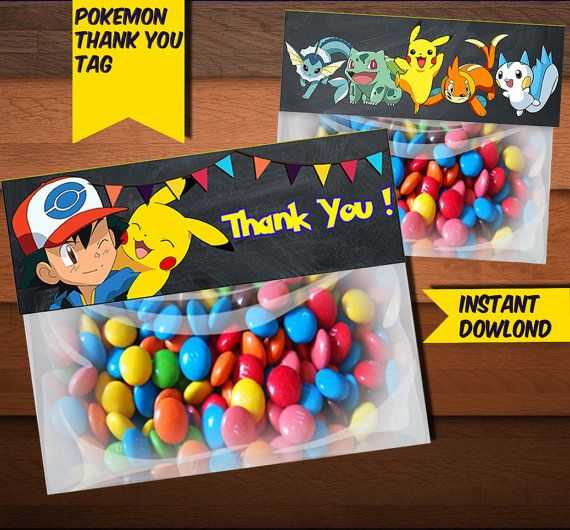 Pokemon Bag Toppers-Digital Printable by KaleidoscopePrintArt