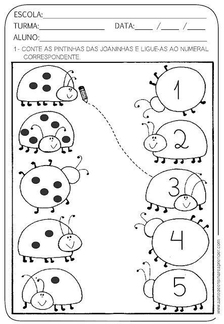 Atividade Pronta Numero E Numeral Educacao Infantil Atividade