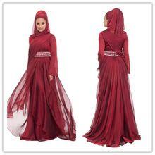 Neue Mode 2015 Kaftan Burgund Hijab Underscarf Dubai Marokkanischen Kaftan Muslimischen Abendkleid Langarm Maxi Kleid (MUSL-1080) //Price: $US $132.05 & FREE Shipping //     #dazzup