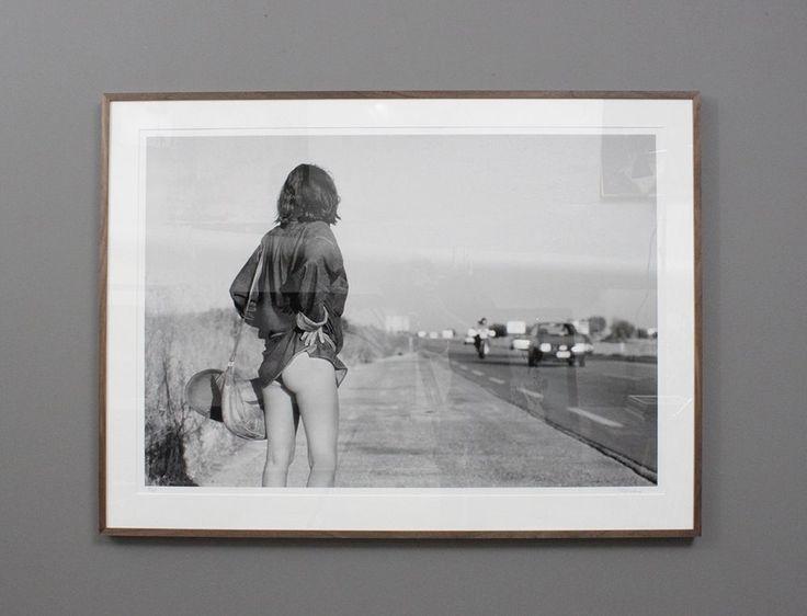 """Italian Hitchhiker"" by Tony Landberg - photo art, black and white.."