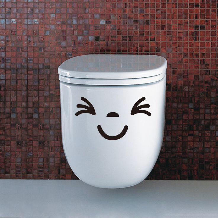Happy Smile Toilet Sticker //Price: $5.99 & FREE Shipping //     #housedecoration