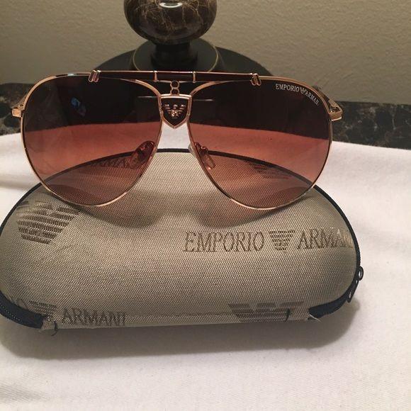 emporio armani men's polarized aviator sunglasses emporio armani men's polarized aviator sunglasses Brown frames and tint Emporio Armani Accessories Glasses