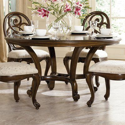Jessica MCclintock Couture Round Dining Room Set In Mink   By American Drew