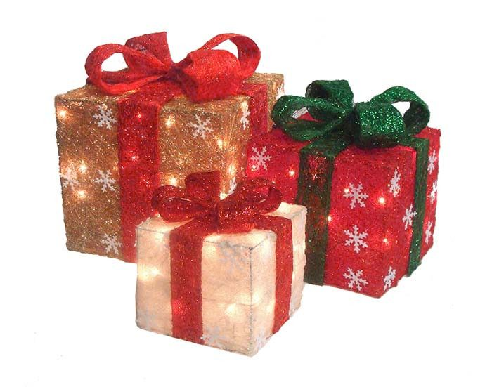 Christmas Gift Box Decorations 45 Best Christmas~~Lighted Boxes Images On Pinterest  Gift Boxes