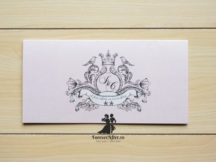 Invitatie de nunta Poveste de iubire   ForeverAfter.ro