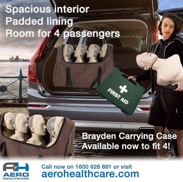 Easy to carry, compact enough for any car - perfect for First Aid Trainers transporting CPR Manikins to training sessions! The 4 x Brayden Carry Case is available now from Aero Healthcare, call 1800 628 881 or visit http://www.aerohealthcare.com/brayden
