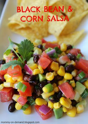 Made this for the potluck at work and everyone loved it! Very easy and tasty. (Just don't cut/add the avocado until just before serving so it keeps it's vibrant green color :)!)  MOMMY ON DEMAND: Black Bean & Corn Salsa