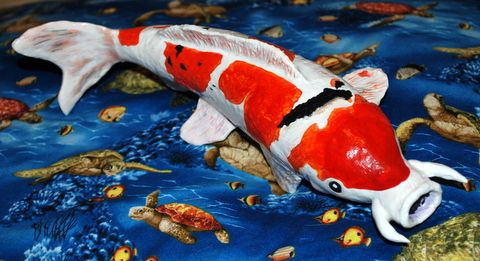 379 best papier mache images on pinterest paper mache for Ultimate koi clay
