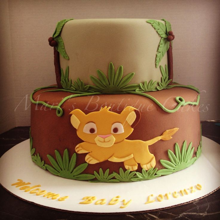 Lion King Baby Simba Cake Wallpaper Pin By Brittany Vo On Simba Lion King Baby  Shower