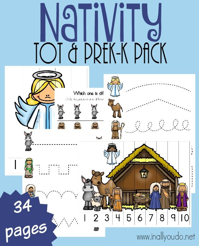 Nativity Tot & PreK-K Pack {34 pages} - In All You Do