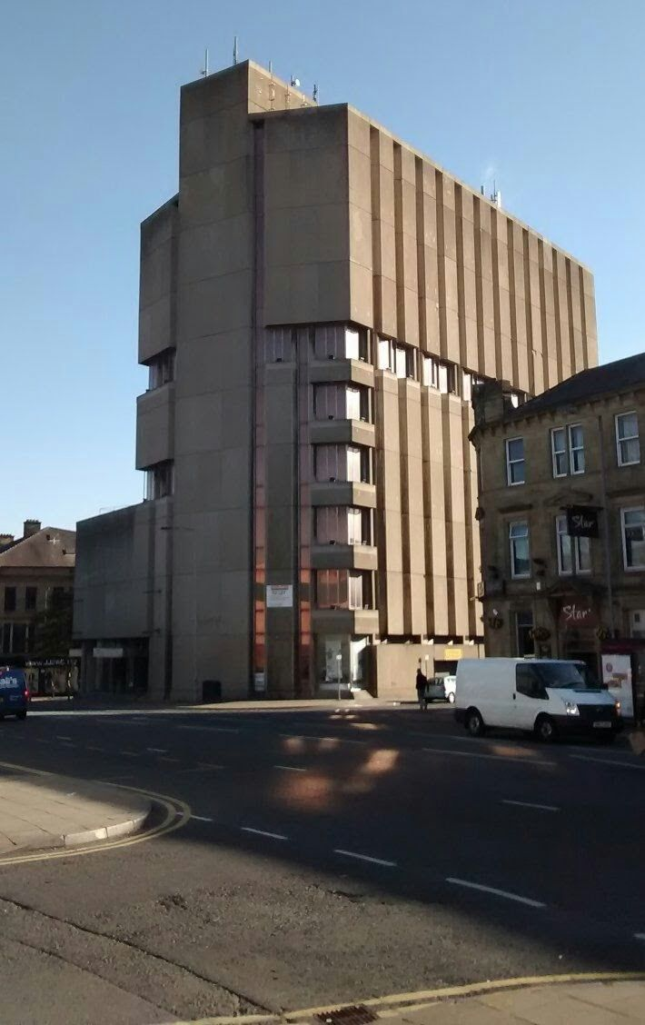 I pint in Bradford the former Yorkshire Building Society headquarters now derelict.