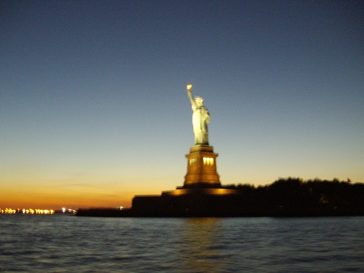 Statue of Liberty from Schooner on the Hudson