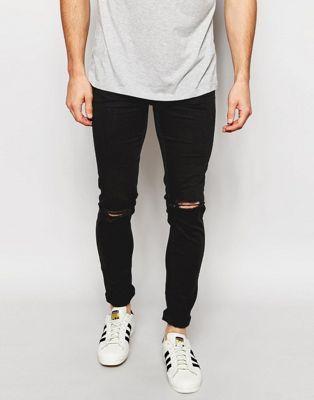 Рваные облегающие джинсы New Look