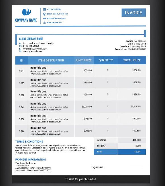 Shops, Invoice template and Templates on Pinterest - shop invoice