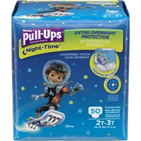 Pull-Ups Night-Time Training Pants for Boys, (Choose Your Size)