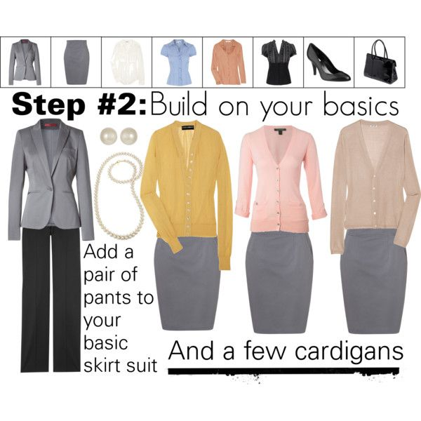 """Work Wardrobe: Step 2"" by thepolyvorina on Polyvore"