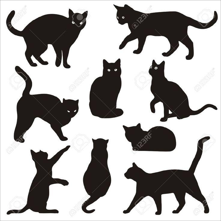 sagome gatti neri - Cerca con Google