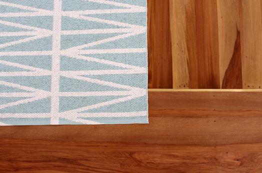 Floor boards and doormat