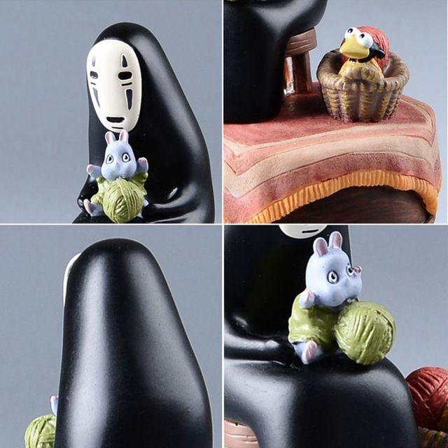 Studio Ghibli My Neighbor TOTORO Resin Music Box Japanese Anime Action Figure Miyazaki Hayao TOTORO figure Kids Toys Model doll