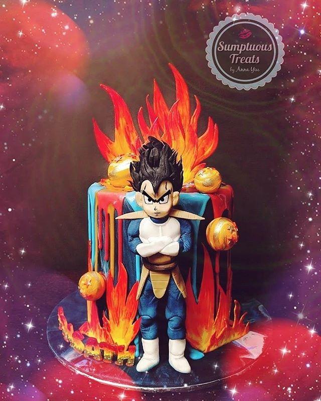 Sumptuous Treats By Anna Yiu V Instagram Dragon Ball Vegeta Saiyan Prince Dragonball Vegeta Dragonballz Dragonbal Dragonball Z Cake Dragon Ball Vegeta