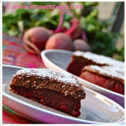 Raw Choc Beetroot Cake @ kirawestwick.com