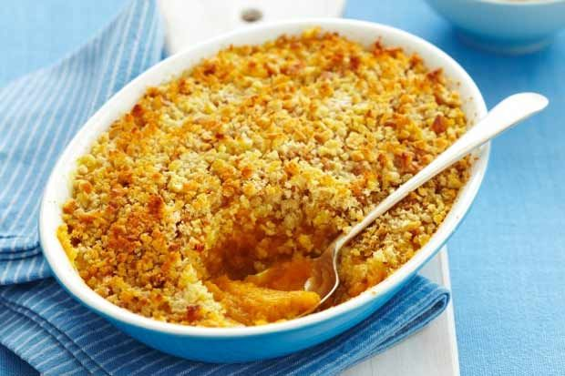 Baked Pumpkin Gratin Pie.  Not the sweet thanksgiving version, this is savoury and delicious with BBQ meat, chicken or fish.