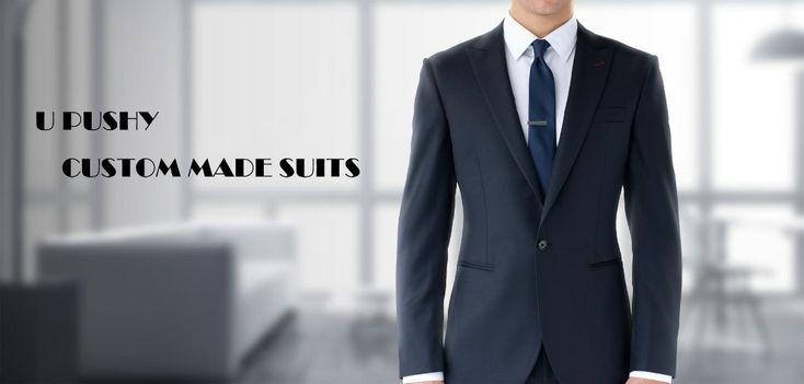 Новое Поступление Темно 100% шерсть 2 шт. (куртку + брюки) две кнопки нотч с одного отверстия военно морской флот костюмы для мужчин купить на AliExpress