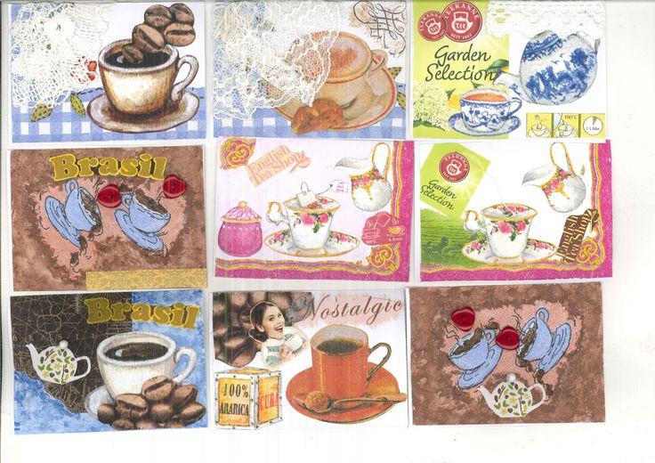 Morning tea, ranní šálek, ranní nápoj, ATC, art trading cards