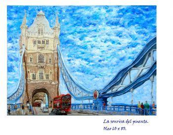 Según desde donde lo mires ,el majestuoso puente parece invitar sonriente a…