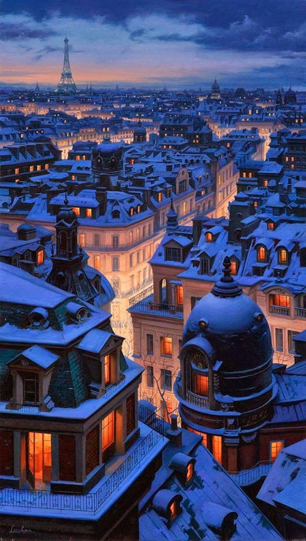 l'hiver à paris - les toits.