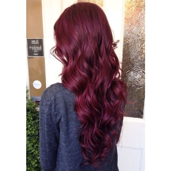 21 Bomb Burgundy Hair Colors   Hairstyle Guru ❤ liked on Polyvore featuring beauty products, haircare and hair color