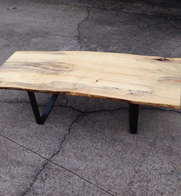 Rustic Slab Wood Coffee Table Bench: Best 25+ Slab Table Ideas On Pinterest