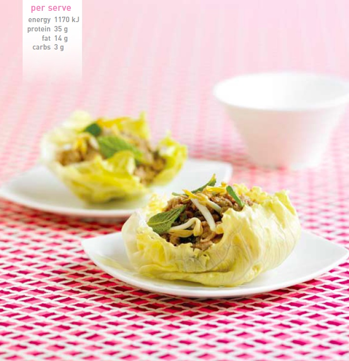 Chicken San Choi Bao. Recipe here: http://celebrityslim.com.au/recipes/chicken/chicken-san-choy-bow